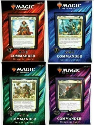 Commander 2019 SET of 4 MTG Magic EDH Decks Box Sealed Case English