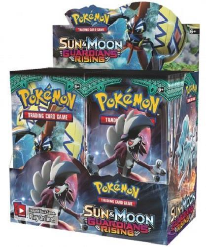 pokemon tcg sun moon guardians rising booster sealed box english in stock ebay. Black Bedroom Furniture Sets. Home Design Ideas