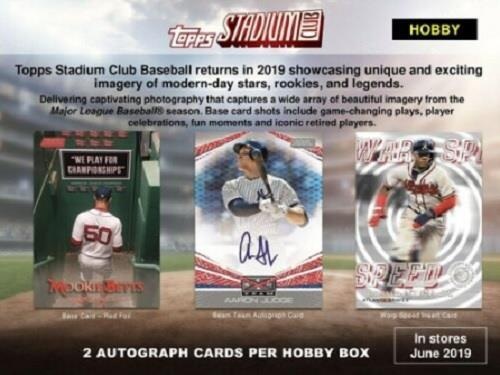 Details About 2019 Topps Stadium Club Baseball Factory Sealed Hobby Box